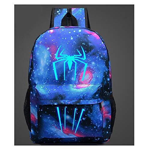 New Spider Man School Backpack Boys Girls Daypacks Kids Book Bag Backpack Women Men Luminous Galaxy Travel Bags Children