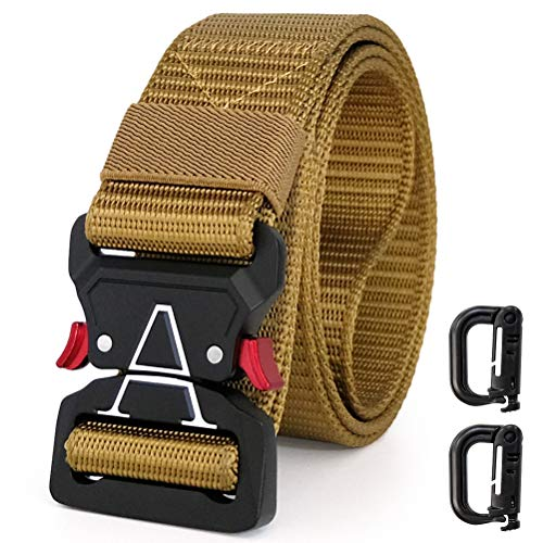 - WONDAY Tactical Belt,Military Style Durable Nylon Belt,2019 New Quick-Release Buckle Mens Belt for Cargo Pants Jeans