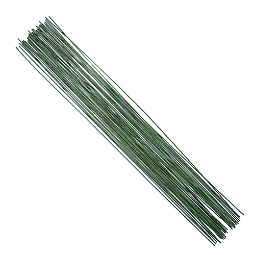 - DECORA 18 Gauge Dark Green Floral Paper Wrapped Wire 16 inch,50/Package