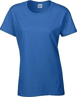 Gildan Donna Collo E Spalle Profilati Manica Corta Cotone Pesante donna T-Shirt