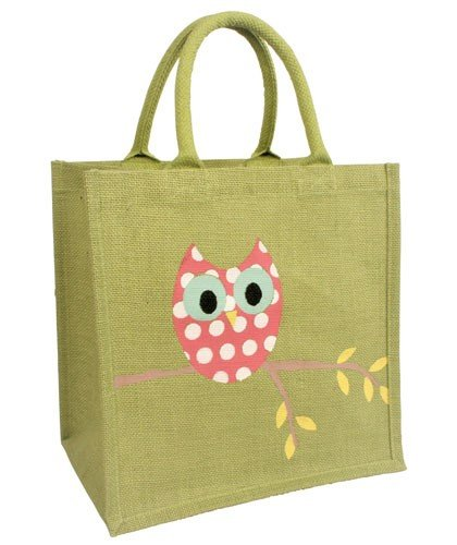 Fairtrade Bag Owl Bag Shopping Jute Yqw6P6