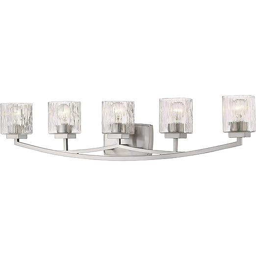Amazon.com: Baño Vanity 5 lámparas con acabado en níquel ...