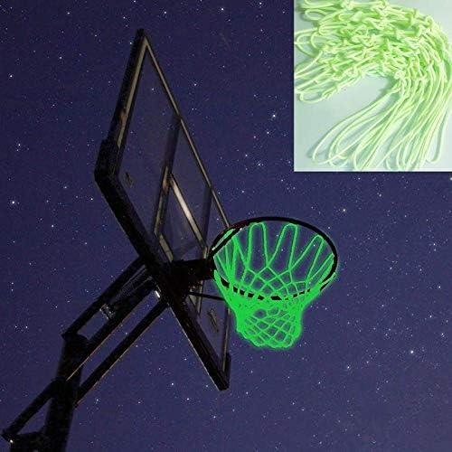 CUHAWUDBA Nightlight Basketball Net Luminous Outdoor Glow in the Dark Portable Sun Powered Sports Nylon Glowing Night