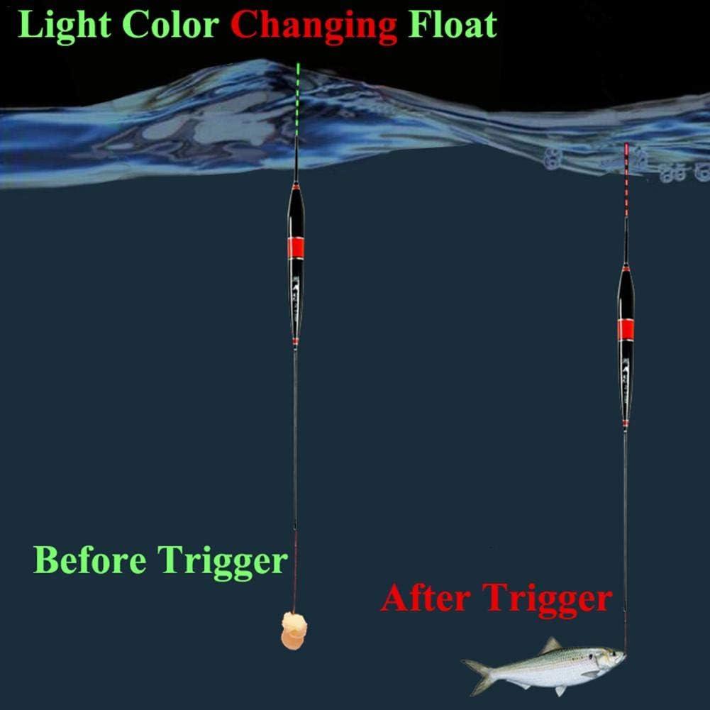 Dire-wolves Galleggianti per La Pesca Galleggianti per Pesca A Induzione con Microgravit/à alla Luce Notturna Galleggianti per Pesca Elettronici A LED per La Pesca Notturna