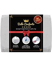 Protetor de Colchão Impermeável Bello Conforto com Slip Queen Revestimento Superior Fibrasca Branco 160x200