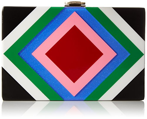 MILLY Diamond Square Box Clutch, Multi by MILLY