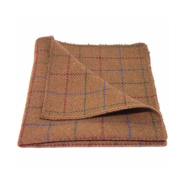Heritage-Check-Rustic-Brown-Pocket-Square-Tweed-Handkerchief