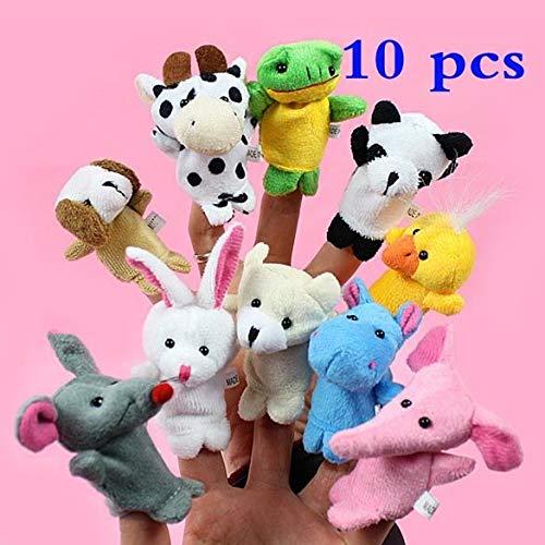 Best Quality - Puppets - 10Pcs/lot Cartoon Animal Finger Puppets for Bedtime Stories Baby Child Favor Marionetas Vingerpoppetjes Favorite Birthday Gift - by HIGHUP - 1 PCs from HIGHUP