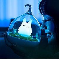 Luces de la noche de los niños de WOMHE Diseño portátil Pantalla táctil Lámpara de la jaula de vibración Luces de la noche - Cargando - para niños, bebés, regalos de San Valentín, lámpara para exteriores (azul)