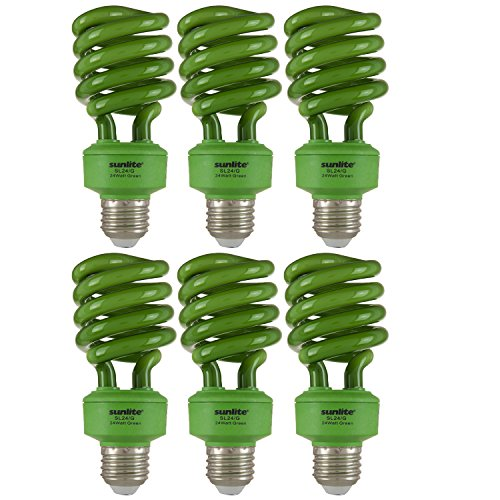(Sunlite SL24/G/6PK Medium Base Fluorescent T3 Spiral 24W Green Energy Star Light Bulbs (6 Pack))