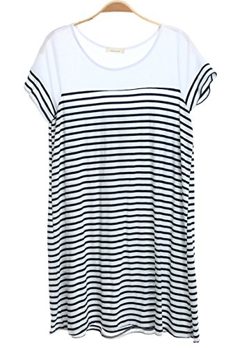 Crescent Striped Short Sleeve Dress