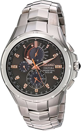 (Seiko Men's Coutura Japanese-Quartz Watch with Stainless-Steel Strap, Silver, 25 (Model: SSC561))