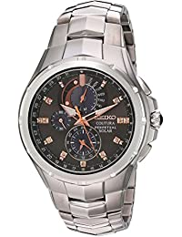 Seiko Men's 'Coutura' Quartz Stainless Steel Casual Watch, Color:Silver-Toned (Model: SSC561)