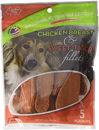 Carolina Prime – Chicken Breast Sweet Tater Fillets 1lb. – Naturally Nutricious Dog Treats
