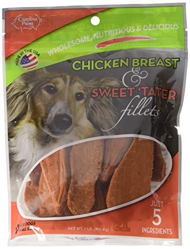 Carolina Prime – Chicken Breast & Sweet Tater Fillets (1lb.) – Naturally Nutricious Dog Treats