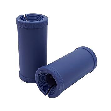Joagym manos agarre grasa - espesor grasa barra adaptador de entrenamiento para crecimiento muscular y la fuerza Azul 56mm(2.2in): Amazon.es: Deportes y ...