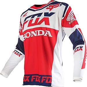 Fox Racing 180 Honda Men's Dirt Bike Motorcycle Jerseys - White / Medium