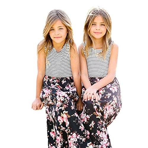 Reviews/Comments Baby Clearance Girls Kids Floral Print -Line Dresses Striped -Shirt Boho Dress for Toddlers Yamally