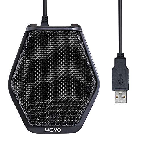 Movo MC1000 Computer Microphone - Professional Conference USB Microphone for Computer Desktop with 180°, 20' Long Pick up Range for PC, Windows & Mac, iOS - Plug and Play Easy Installation