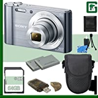 Sony DSC-W830 Digital Camera + 64GB Greens Camera Package 2