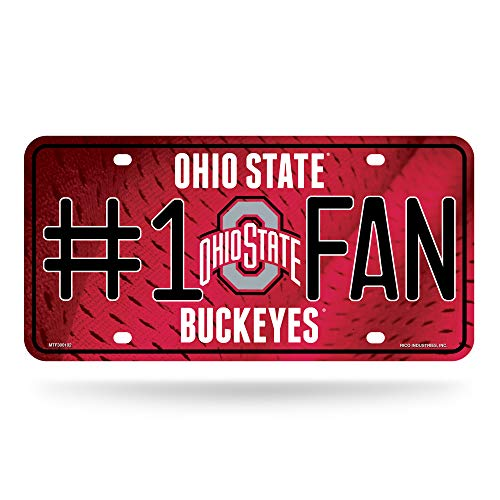 NCAA Ohio State Buckeyes #1 Fan Metal License Plate ()