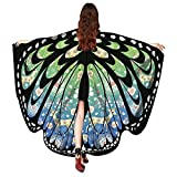 Women Christmas Butterfly Wings-Vovomay Shawl Scarves Poncho Costume Accessory (Green)