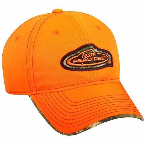 Outdoor Cap Team Logo Cap with Camo Trim, One Size, Realtree Blaze/APX
