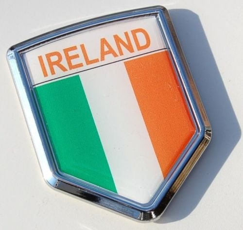 Ireland Decal Irish Flag Car Chrome Emblem ()