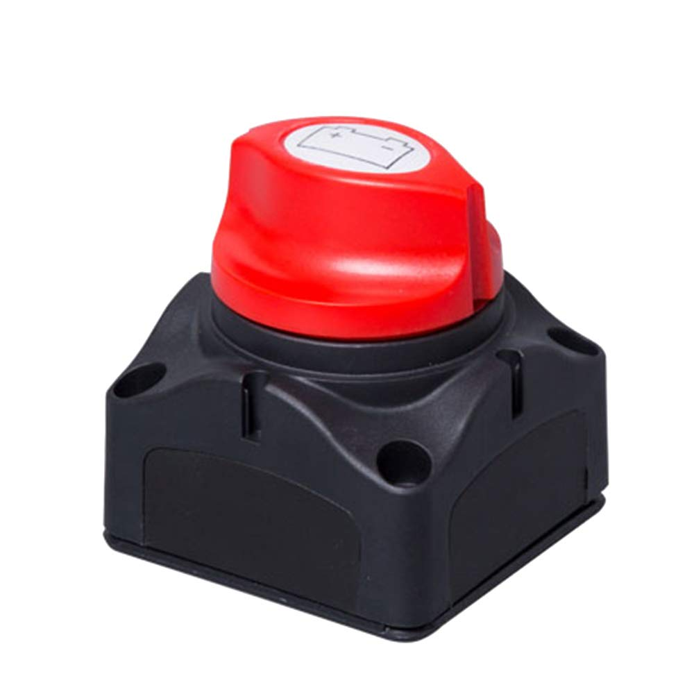 Battery Disconnect Switch, Universal 300A High Current Battery Isolator Switch Master Power Cut Off for 12V/24V Car Boat RV Marine Van Truck MeiBoAll