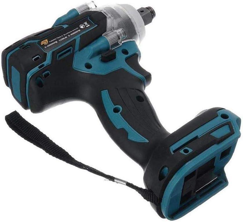 Drehmoment 520Nm Schl/üssel Power Tool Schlagfrequenz Deanyi 18V Elektro-Schlagschrauber 1//2-Zoll-Brushless Cordless 0-4000ipm