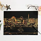 Metropolis Night Light, Scratch Night View, Scratch Paper - Las Vegas