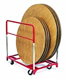 Raymond 3709 Steel Standard Round Folding Table Mover with 6'' x 2'' Phenolic Caster, 1600 lbs Capacity, 48'' Length x 32-3/4'' Width