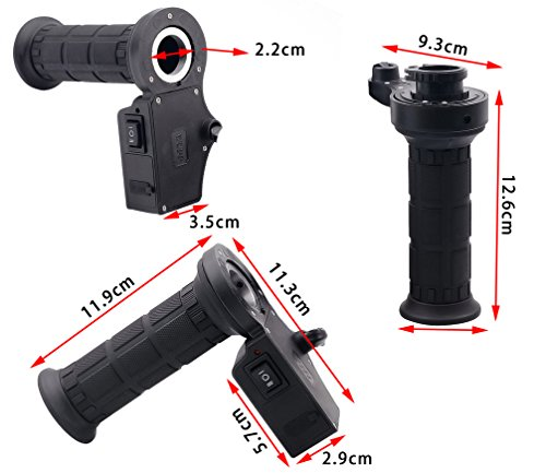 Stebcece Motorcycle 3in1 Handlebar Electric Hot Heated Grips Handle +Voltage +USB Charger