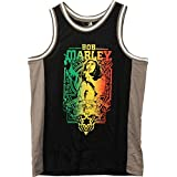 Bob Marley Men's Basketball Jersey Black