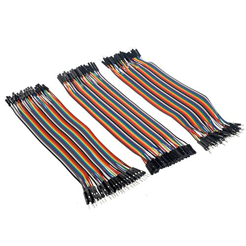 GeeBat 120pcs Multicolored Dupont Wire 20CM Rainbow Wire 40pin Male to Female, 40pin Male to Male, 40pin Female to Female Breadboard Jumper Wires Ribbon Cables Kit for arduino