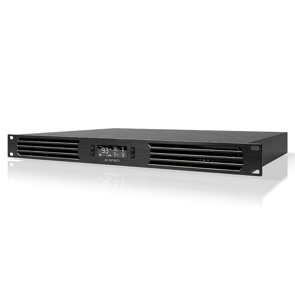 AC Infinity CLOUDPLATE T6 PRO, Rack Mount Fan 1U, Front Exhaust Airflow, for cooling AV, Home Theater, Network 19'' Racks
