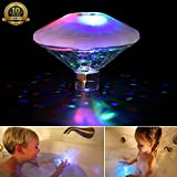 Underwater Light Show Bathtub Floating Lamp Swimming Pool Lights Pond Pool Spa Bath LED Lamp for Baby's Pool Toy(Pack of 1)