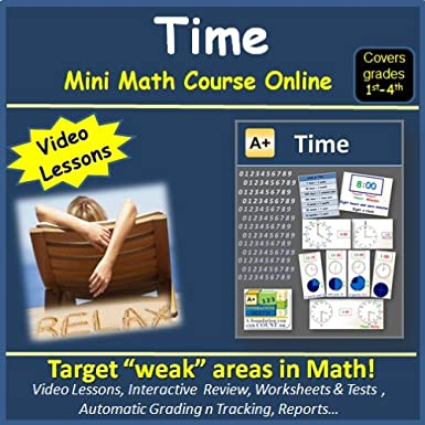 Amazon.com: Learn about Time (covers 1st to 4th grade) - Mini Math ...