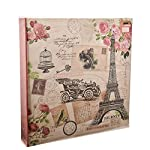 ARPAN Large Happy Memories Slip In Case RingBinder Photo Album Holds 500 Photos 6'' x 4'' - Vintage Owl