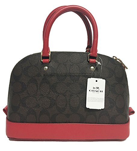 Coach Sierra Red Women��s True Shoulder Purse Mini Handbag Brown Shoulder Inclined Satchel YrYqw1P