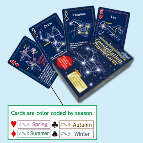 Educational Playing Card (Illustrated and Explained Constellation Playing Cards by Artec)