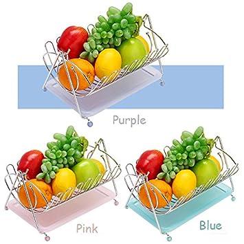 Fruit Basket - Frutero con cesta de acero inoxidable para ...