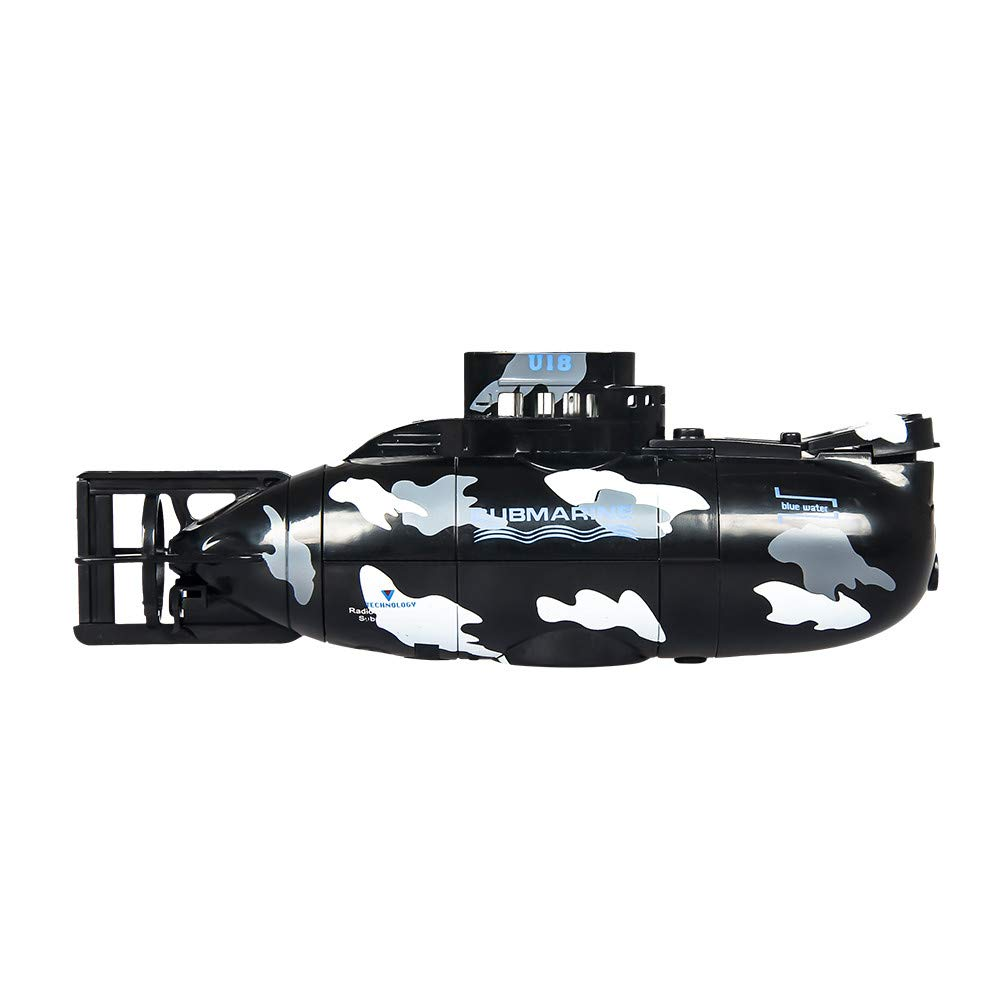 Benficial Mini RC Nuclear Submarine High Speed Remote Control Drone Children's Gift 2019 Summer Black