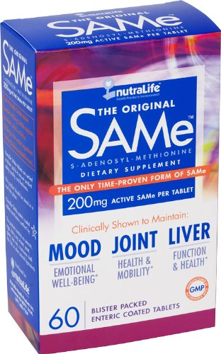 Nutralife The Original SAMe 200mg 60 Kosher Enteric-Coated Tablets