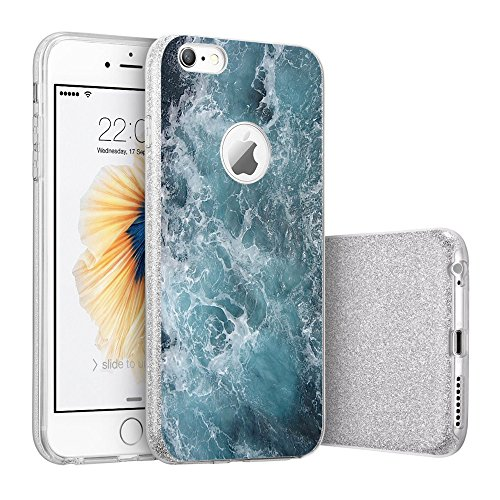 Price comparison product image iPhone 6/6s case Beryebi Bling Bling Ultra Thin Interesting Design Biling Biling Soft TPU Protective Cover (2, iPhone 6/6s Plus)