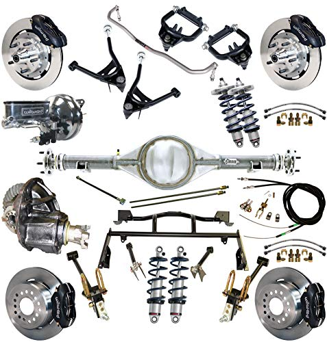 RIDETECH COILOVER & 4-LINK SYSTEM,CURRIE REAR END & WILWOOD DISC BRAKE KIT,CONTROL ARMS,FRONT SWAY BAR,12