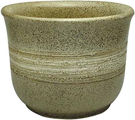 国産鉢 和鉢 白ボカシ花鉢 6号