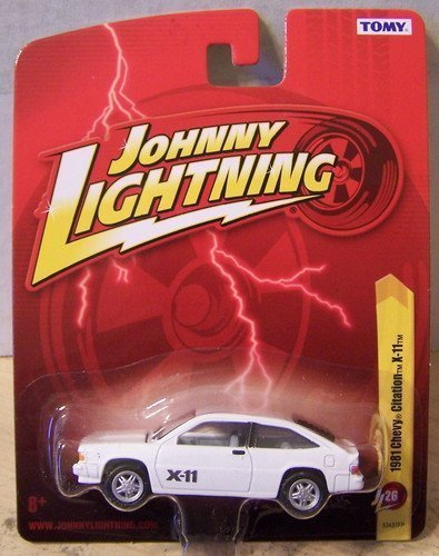 1981-chevy-citation-x-11-white-diecast-164-scale-car-by-johnny-lightning