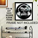 Music Makes My Soul Smile Quote on a Vinyl Record