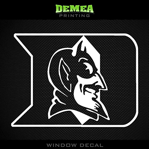 Duke Blue Devils Window - Duke - Blue Devil - NCAA - Window Decal - 5
